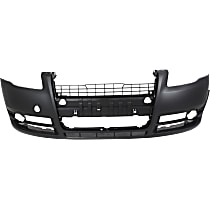 Front Bumper Cover, Primed - w/o Washer Holes, w/ Fog Light Holes