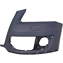 Front Bumper Cover, Primed - w/o S-Line Pkg, w/o Parking Aid Sensor Holes, CAPA CERTIFIED