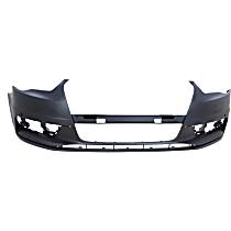 Front Bumper Cover, Primed - Convertible/Sedan, w/ Park Sensor Holes, w/o Washer Holes