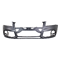 Front Bumper Cover, Primed - w/o S-Line Pkg, w/o Headlight Washer Holes, Exc. Hybrid Model, CAPA CERTIFIED
