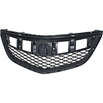 Grille Assembly - Textured Dark Gray Shell and Insert, CAPA Certified