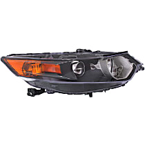 Passenger Side HID/Xenon Headlight, Without Headlight Bulb; With high beam and signal light bulb(s)