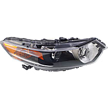CAPA Certified Passenger Side HID/Xenon Headlight, Without Headlight Bulb; With high beam and signal light bulb(s)