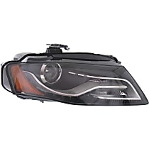 Passenger Side HID/Xenon Headlight, Without bulb(s) - B8 Body Code