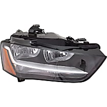 Passenger Side Headlight, With bulb(s) - B8 Body Code