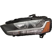 Driver Side Headlight, With bulb(s) - B8 Body Code