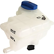 OE Replacement Coolant Reservoir - For 1.8L/2.0L/3.2L Engine Models, With Cap, 2.5L Capacity, Single tube