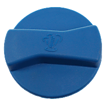 Radiator Cap - Round, 22 lbs., Blue, Plastic, Sold individually