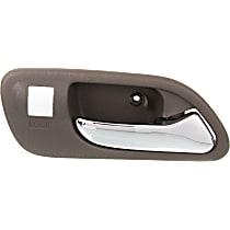 Front, Passenger Side Interior Door Handle, Beige bezel with chrome lever
