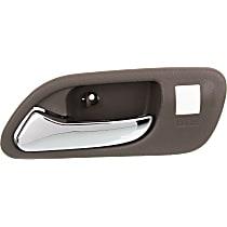 Front, Driver Side Interior Door Handle, Beige bezel with chrome lever
