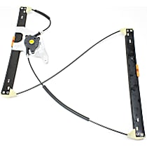 Front, Driver Side Power Window Regulator, Without Motor, Without Insulated Glass type