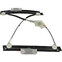 Front, Driver Side Power Window Regulator, Without Motor - Coupe