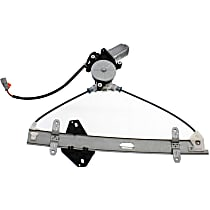 Front, Passenger Side Power Window Regulator, With Motor - Coupe