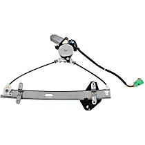 Front, Driver Side Power Window Regulator, With Motor, Coupe