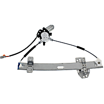 Front, Passenger Side Power Window Regulator, With Motor, 2 Pins