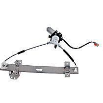 Front, Driver Side Power Window Regulator, With Motor, 4 Pins (Front), 2 Pins (Rear)