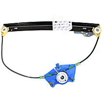 Rear, Driver Side Power Window Regulator, Without Motor