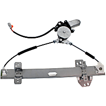 Rear, Passenger Side Power Window Regulator, With Motor, 2 Pins