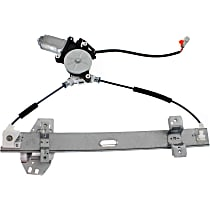 Rear, Driver Side Power Window Regulator, With Motor, 4 Pins (Front), 2 Pins (Rear)
