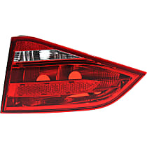Passenger Side, Inner Tail Light, Without bulb(s) - Clear & Red Lens, Sedan