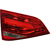 Driver Side, Inner Tail Light, Without bulb(s) - Clear & Red Lens, Sedan