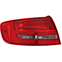 Driver Side Tail Light, Without bulb(s) - Clear & Red Lens, Wagon