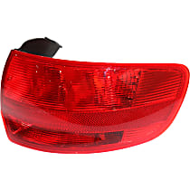 Passenger Side, Outer Tail Light, Without bulb(s) - Red Lens, To VIN A112778