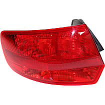 Driver Side, Outer Tail Light, Without bulb(s) - Red Lens, To VIN A112778