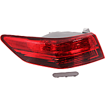 Driver Side, Outer Tail Light, With bulb(s) - Clear Lens
