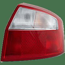 Passenger Side Tail Light, With bulb(s) - Clear & Red Lens, Sedan