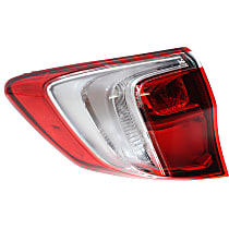 CAPA Certified Passenger Side, Outer Tail Light, With bulb(s)