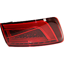 Driver Side, Outer Tail Light, With bulb(s) - Red Lens, LED Type, Convertible/Sedan