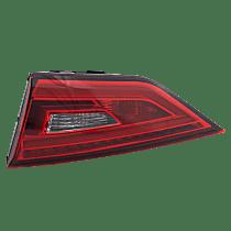 Passenger Side, Inner Tail Light, With bulb(s) - Clear & Red Lens, LED Type, Convertible/Sedan