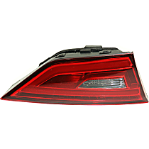 Driver Side, Inner Tail Light, With bulb(s) - Clear & Red Lens, LED Type, Convertible/Sedan