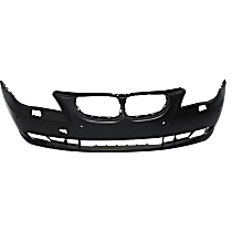 Bumper Cover - Front, 1 Piece, Primed, For Models Without M Package, With Park Distance Control, With Tow Hook Hole, CAPA Certified