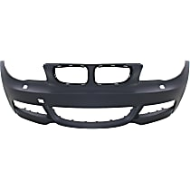 Bumper Cover - Front, 1 Piece, Primed, For Models With M Package (With Headlight Washers), With Tow Hook Hole