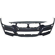 Front Bumper Cover - w/ M Package - w/ Park Distance Control & H/L Washer Holes - w/ Park Assist & Surround View Camera Holes, CAPA CERTIFIED