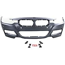 Front Bumper Cover, Primed, Sedan/Wagon - w/ M Pkg., w/ Park Sensor, w/o Washer Holes, w/ Fog Light Holes