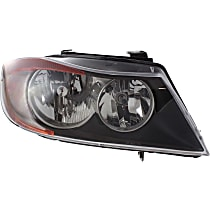 Sedan(E90)/Wagon(E91), Passenger Side Halogen Headlight, With bulb(s)