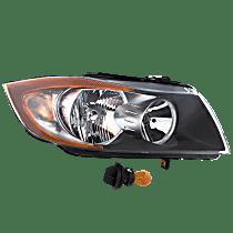 Sedan(E90)/Wagon(E91), Passenger Side Halogen Headlight, With bulb(s), CAPA CERTIFIED