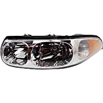 Driver Side Headlight, With bulb(s) - (00-05 Lesabre Custom Model FWD), With Fluted High Beam Surface