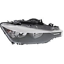 Passenger Side Halogen Headlight, With bulb(s) - Sedan/Wagon