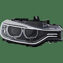 Passenger Side HID/Xenon Headlight, Without bulb(s) - Sedan/Wagon