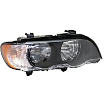 Passenger Side Halogen Headlight, With bulb(s) - With White Turn Signal