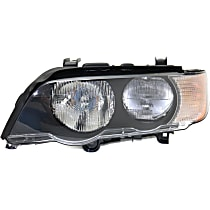 Driver Side Halogen Headlight, With bulb(s) - With White Turn Signal