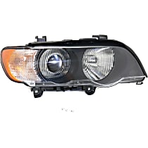 Passenger Side HID/Xenon Headlight, With bulb(s) - Clear Lens, With White Turn Signal