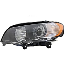 Driver Side HID/Xenon Headlight, With bulb(s) - With White Turn Signal
