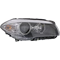 Sedan, Passenger Side Headlight, With bulb(s) - Without Auto Adjust Headlights,