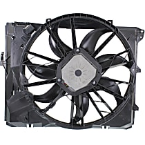 OE Replacement Radiator Fan - Fits E82-E93 w/ 6 Cyl Non-Turbo Engine, w/ Auto Transmission