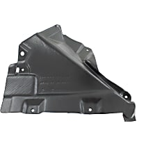 Fender Liner - Front, Driver Side, Rear Section, Convertible/Coupe, Lower Reinforcement Panel